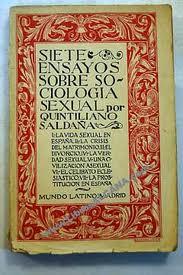 Artículos de sexología y sexualidad. El Profesor Saldaña y el primer tratado de sexología